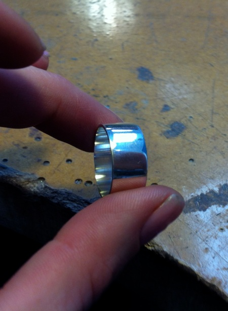 The silver band ring
