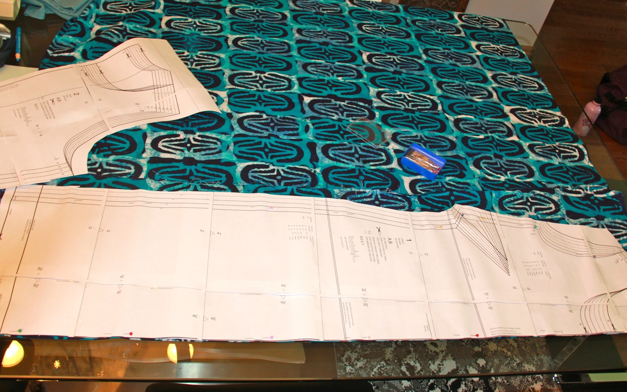 On my Needles: Batik Dress  Colour Block Cardigan