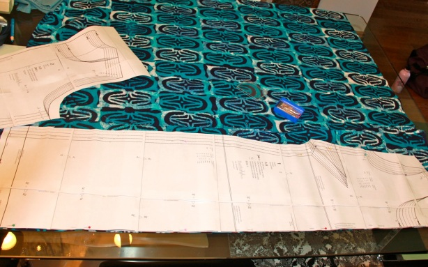 Batik dress in progress
