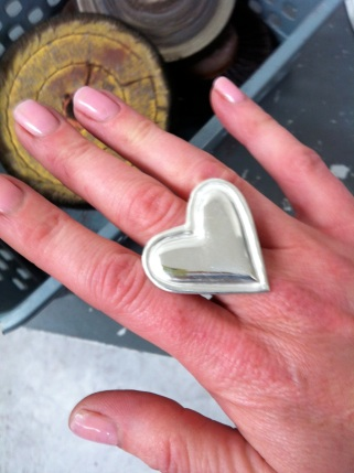 Ta-da! My lovely new heart ring.