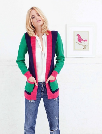 The Erika Cardigan model