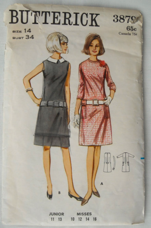 60s Sheath Dress from vintage Butterick pattern