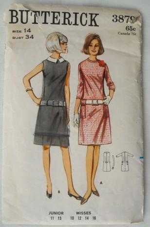 60s Sheath Dress from vintage Butterick pattern