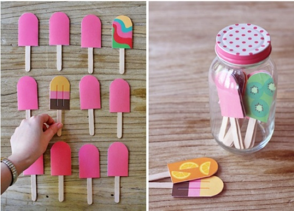 "Home-made popsicle memory cards. Someone actually wrote ""so easy!"" on this one. Like it wouldn't take you all day to make those so perfectly and your kid wouldn't have them wrecked within 5 seconds."