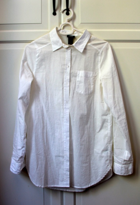 The white cotton shirt, before dyeing