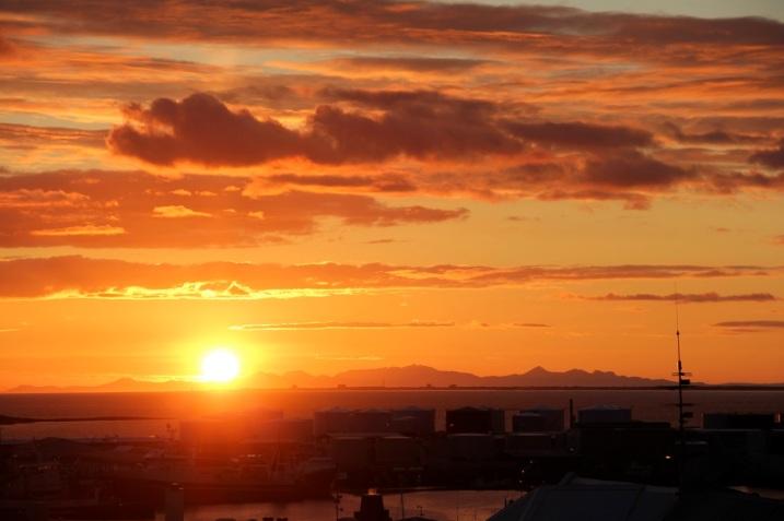 sunset_Reykjavik