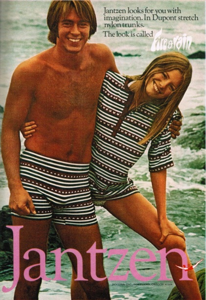 Dupont stretch nylon! I want these outfits for my next vacation with my husband.