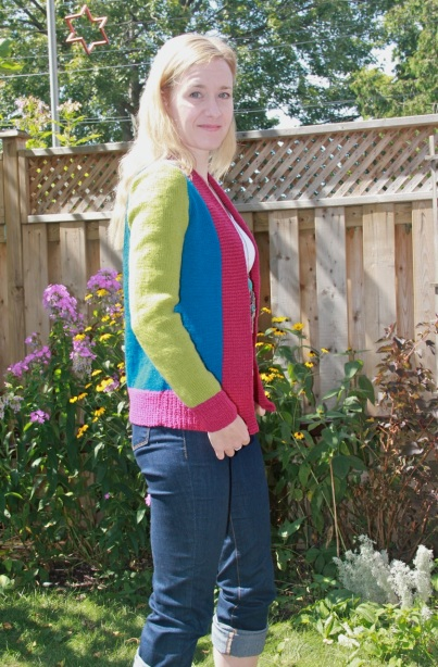 Erika colour block cardigan