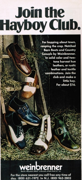 An ad for Weinbrenner shoes