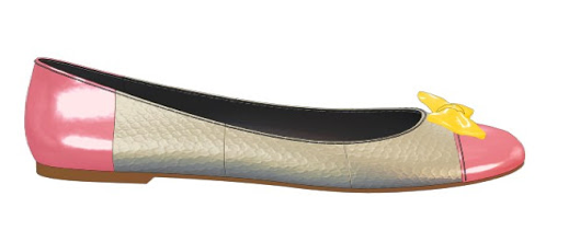 Snakeskin & pink patent ballet flats with bow - designed on Shoes of Prey website