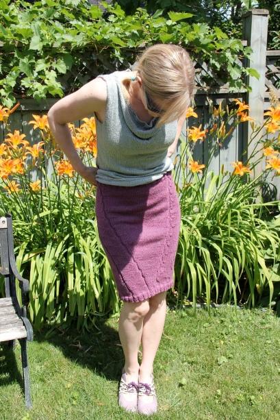 Plum Heather Skirt