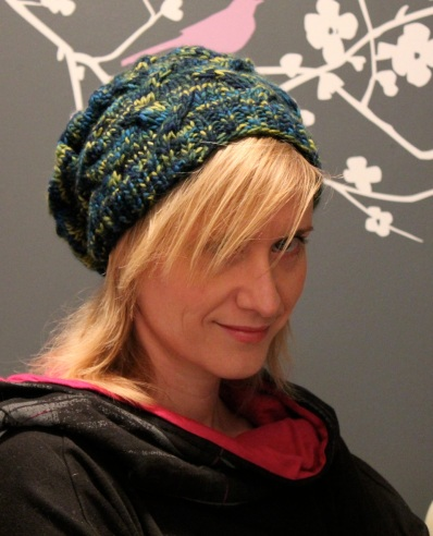 "Star-Crossed Slouchy Beret in Malabrigo Worsted yarn ""Nostalgia"""