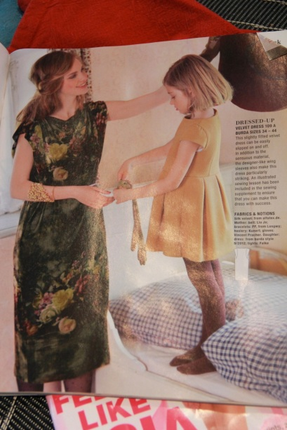 Burda Velvet Dress from issue 9/2013, pattern #109A