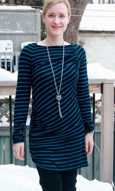 Burda Asymmetrical Striped Tunic