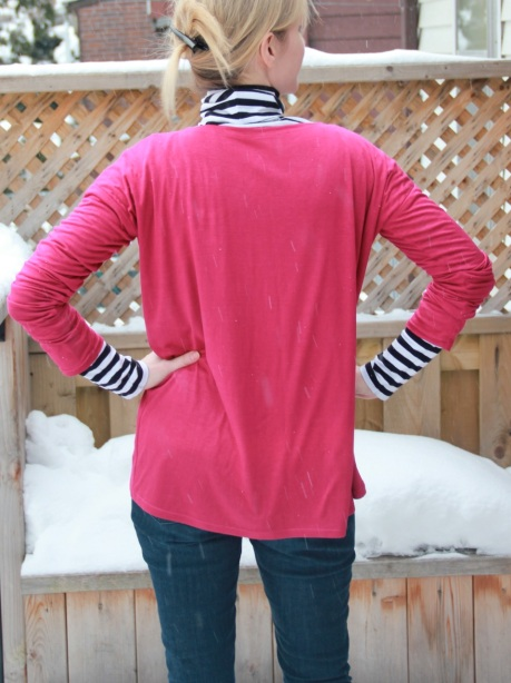 Pink top - back view