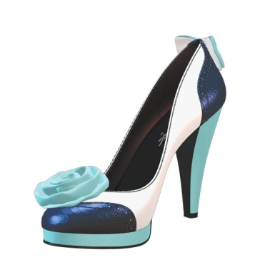 Shoes of Prey spectator pumps with silk rose flower & bow