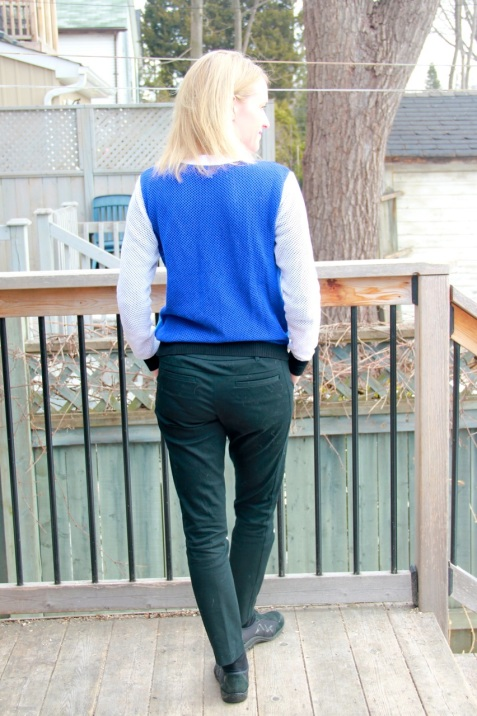 Peter Pilotto for Target Cardigan and Mossimo Pants - back view