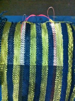 The prototype fiber-optic weave.
