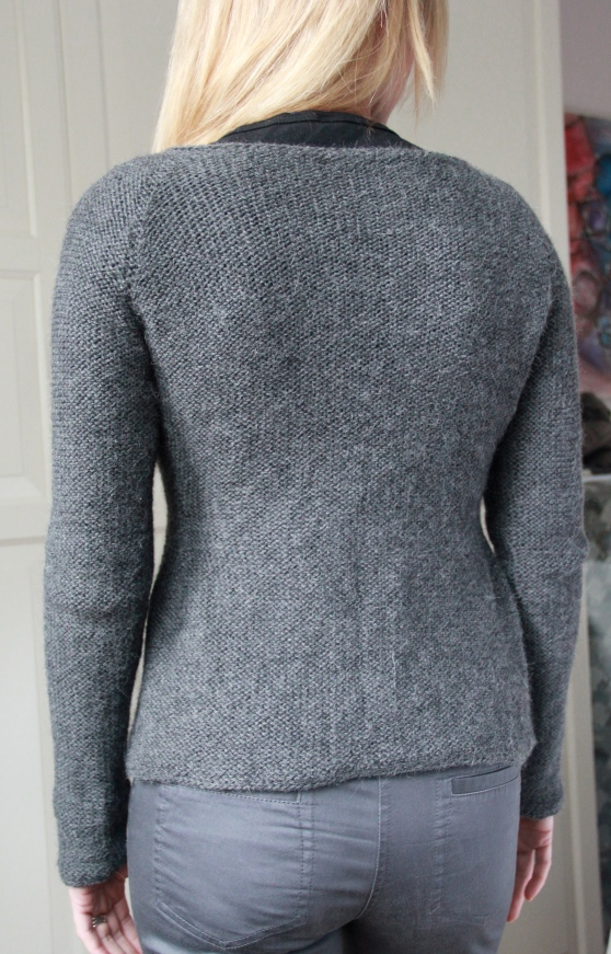 Crowberry Cardi - the back view