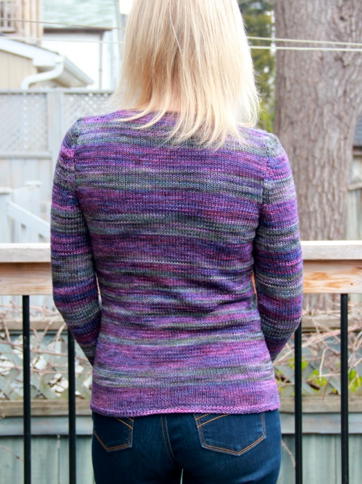 Tempest Striped Cardigan back view