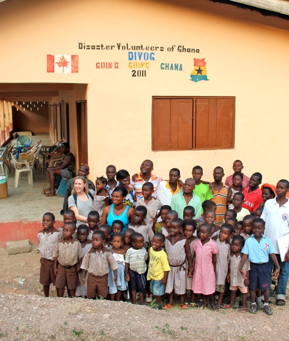 The new 3-room school house in Biakpa