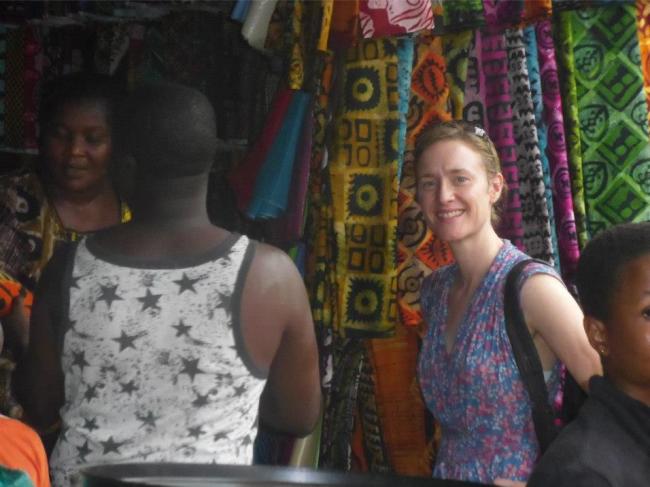 Batik Fabric Stall at the Ho Market, Volta Region, Ghana