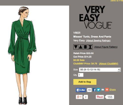 Vogue 8825 pattern