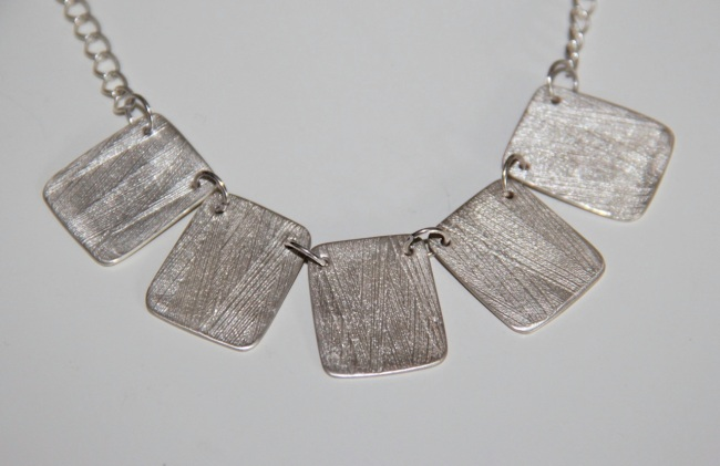 Silver Rectangles Necklace