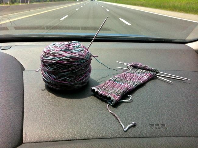Basic Ribbed Socks in progress