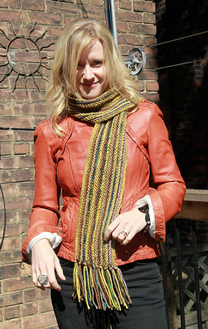Snippet scarf in yellow-multi