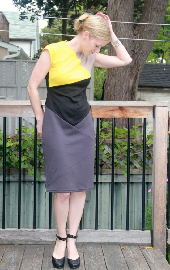 Burda Diagonal Lines Dress