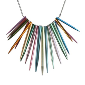 Knitting Needle Necklace by Amy Pfaffman at amyjewelry.com