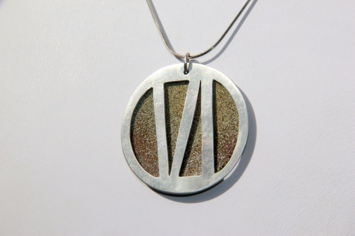 Silver & enamel medallion