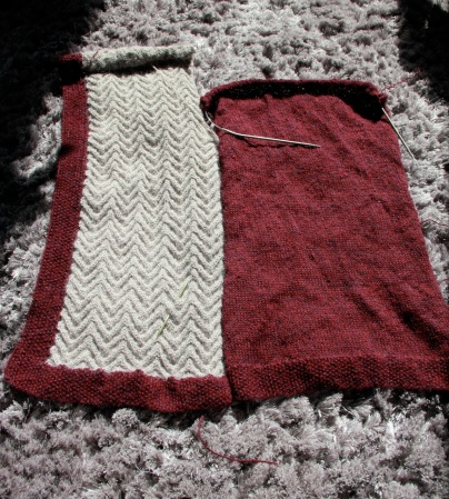 Vanessa Cable Cardi - my version in progress