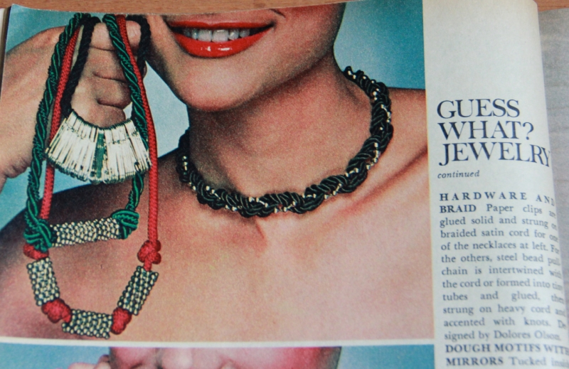 This DIY paperclip necklace won't look at all like you glued a bunch of paperclips together.