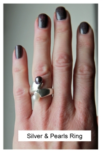 silver&pearlsring