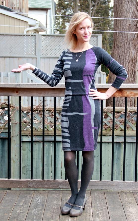 Burda 6901 dress with modifications