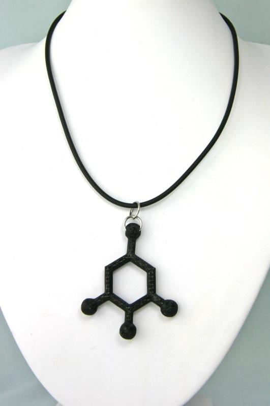 3D printed TNT molecule pendant