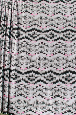 Black, White & Pink polyester knit fabric