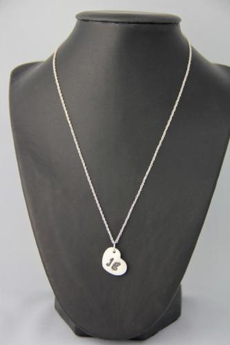 Silver clay pendant