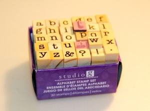 Studio G alphabet stamp set