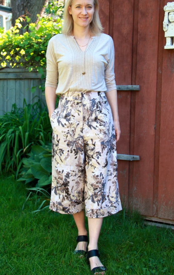 BurdaStyle Pleated Culottes 04/2015 #113