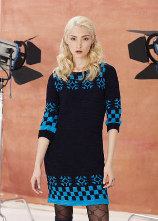 Dress by Anna Sui, from Vogue Knitting Holiday 2013