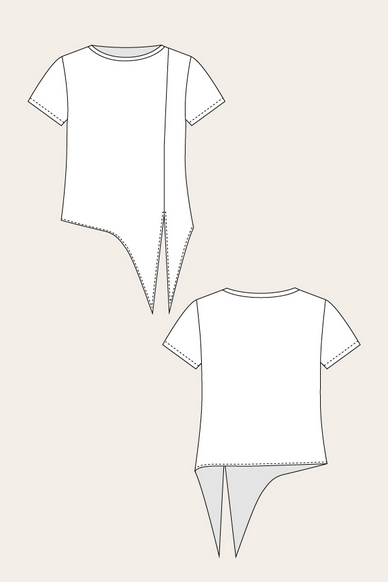 Selja Knot Tee Line Drawing