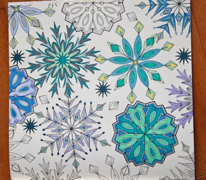 Snowflakes from Colours of Anna Karenina: A Colouring Book Love Story
