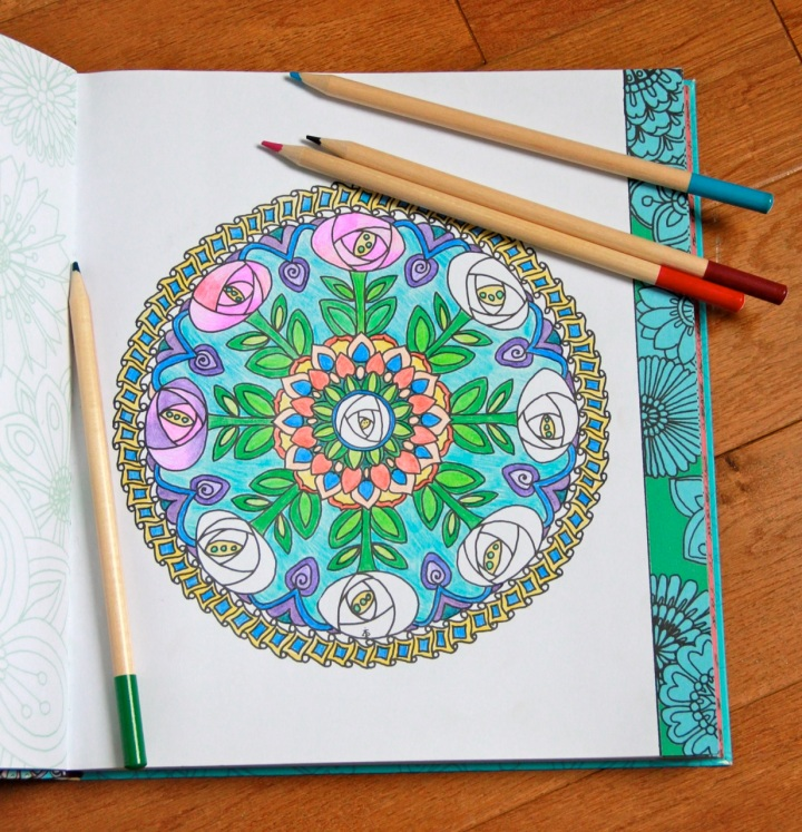 Color Me Calm floral mandala