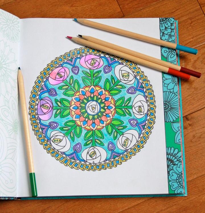 Color Me Calm floral mandala