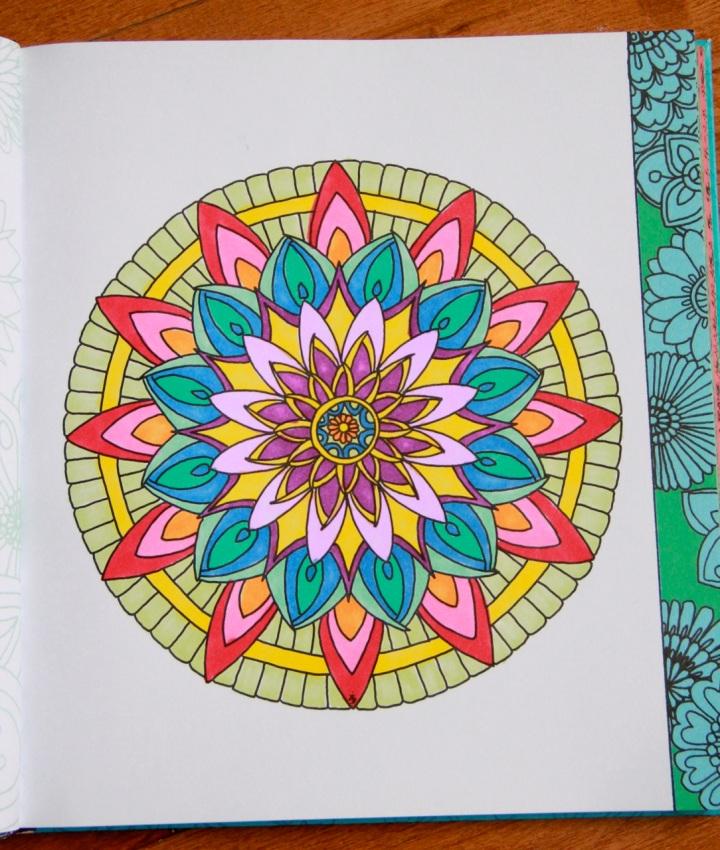 Color Me Calm mandala