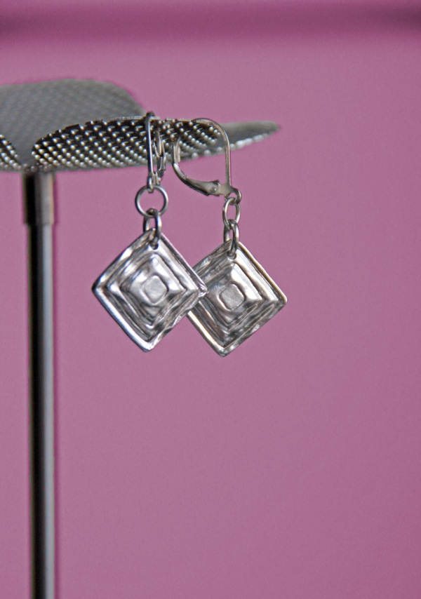 silver clay earrings