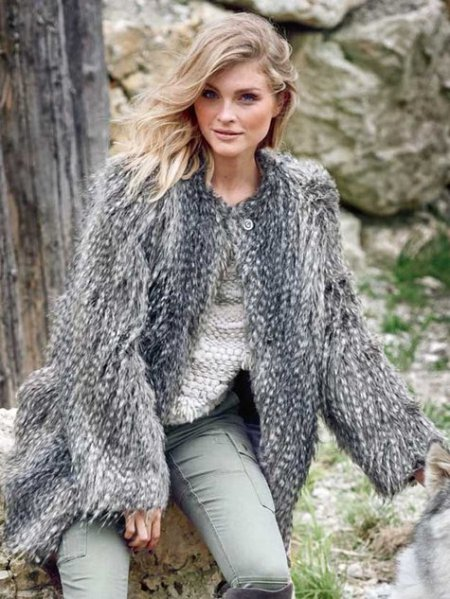 Burda Faux Fur Coat 01/2016 #122